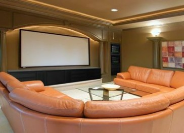 Home Theater - Wall Mounted Projector Screen